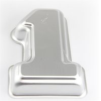 Wholesale first celebration first birthday number cake molds high quality aluminum metal number one shaped cake pans cake tins