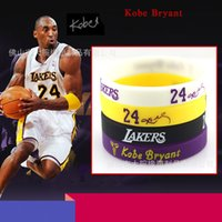 basketball coloring - 2016 New Fashion Bryant Purple Black Coloring Basketball Sport Bracelet Charms Silicone Bracelets For Men And Women Free Shopping
