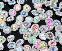 Wholesale Noosa Snap Button mm Edging Glass Diamond Buckle DIY Button Pendant Earrings Bracelet Jewelry Buttons Tree of Life