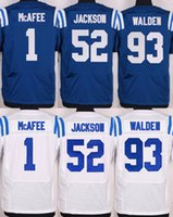 andrew luck - 2016 Elite Mens Jerseys Pat McAfee Andrew Luck D Qwell Jackson Erik Walden Free Drop Shipping