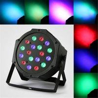 Wholesale 18W RGB laser light LED Stage Light Par DMX Chrismas Light Laser stage lighting Projector Party DJ Light