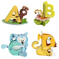 abc kits - ABC Educational Toys D puzzle paper model building kit baby toys diy kids toys handmade birthday gift for children