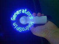 Wholesale Message hotsale gift Flashing Led Mini Fan led light up gift mini fan for wholesales blue