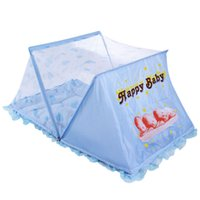 Wholesale Baby Infants Insect Crib Netting Folding Baby Bed Mosquito Net Infant Cushion Mattress with Pillow VT0293