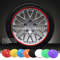 0.082 cm Yes Car-008 New 8 Meter Roll Car Wheel Hub Tire Sticker Car Decorative Styling Strip Wheel Rim Tire Protection Care Covers Auto Accessories order<$18no