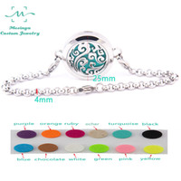 Wholesale 10pcs mesinya ocean swirl bracelet mm Aromatherapy Essential Oils L S Steel Diffuser Locket bracelet