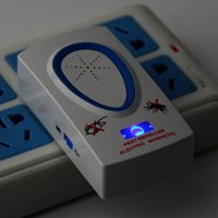 Wholesale AC90V V W Plug White Pest Repeller Electronic Ultrasonic Mouse Rat Mosquito Insect Rodent Control
