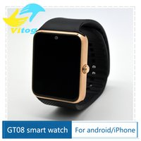 Cheap 2016 GT08 Bluetooth Smart Watch with SIM Card Slot and NFC Health Watchs for Android Samsung and IOS Apple iphone Smartphone Smartwatch