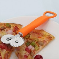 Wholesale Stainless Steel Pizza Cutter Round Shape Pizza Wheels Cutters Cake Bread Round Knife Cutter Blade Pizza Tools JE0244