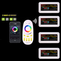 Wholesale hot Wireless G Zone RGBW Touchtone remote control for led strip RF Wifi dimmable Controller rgb controller for milight