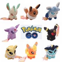 Wholesale New Hot cm Poke Plush Toys Styles Mini Monster Pikachu Plush Dolls Eevee Flareon Espeon Stuffed Doll With Tag Kids Christmas Gift
