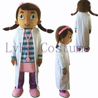 balls making music - High quality female small cartoon mascot costume white doctor the doctor the adult size masked ball factory direct delivery free of charge