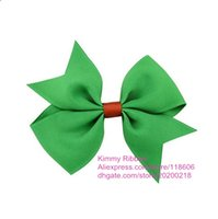 baby girl costumes boutique - 100pcs Baby Girl Costume Ribbon Boutique Hair Bows Clips Xmas