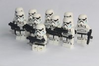 animated wooden toys - 100pcs POGO Star Wars Imperial Stormtrooper minifigure building block toys compatible with legoThe Rebels Animated NEW