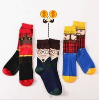 athletic glasses - mens happy socks USA style classcial glass man beard man style cotton knee high long tube crew socks sports skateboard outdoor socks for man