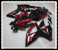 Precio de Suzuki gsxr750 fairing-Nuevo regalo 3 completa carenados de la motocicleta Kit para Suzuki GSXR 600 750 06 07 K6 GSXR600 GSXR750 GSX R600 R750 2006 2007 carrocería comprar fresco rojo negro