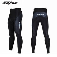 Wholesale SAHOO mountain bike bicycle winter Thermal fleece cycling pants long men women Breathable windproof Warm Up