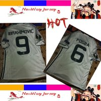 Wholesale HOT POGBA IBRAHIMOVIC rd player version jersey customize patches