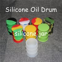 Wholesale 10 pieces DHL free ship ml silicone jar dab wax container hot silicone container concentrate jar multi colors silicone oil drum wax barrel