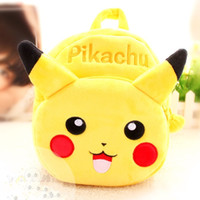 baby go bag - Poke Go Plush Backpack Cute Pocket Monster Stuffed Toys Gift for Baby Kids Pikachu Figure Plush Backpack Children School Bag
