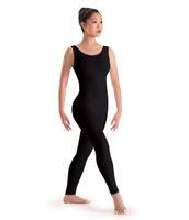adult tank leotard - Adult Basic Ankle Length Footless Women Black Unitard Tank Ballet Dance Gymnastics Leotard One Piece Lycra Spandex Dancewear