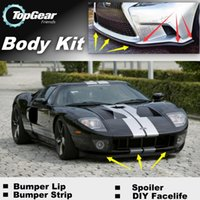 Wholesale For Ford GT Bumper Lip Lips Front Skirt Deflector Spoiler For Car Tuning The Stig Recommend Body Kit Strip