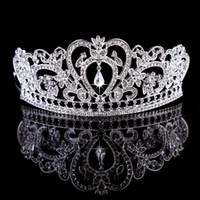 antique tiaras - New Women Silver Gold Crystal Water Drop Crown Tiaras Hairwear Wedding Bridesmaid Party Bridal Jewelry Accessories Headpieces