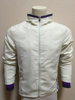 Wholesale 16 Real White Outdoor Lightweight Hoodie Jacket Fitness Workout Hoodie Sportswear Windproof Quick Dry Real Purple Soccer Training Jacket