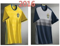 Wholesale Top Thai Quality Sweden home away soccer jersey Euro cup Sweden football shirt Customized name and number Drop shipping