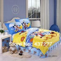 beach duvet cover - Beach Mickey Dog Donald duck cotton bedding sets for children teen queen duvet cover flat sheet bedspread pc comforter sets