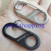 Wholesale EDC Gear Camp Snap Safety Hook Stainless Steel Carabiner Key chain Hiking Key Ring