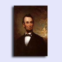 abraham lincoln paintings - Hand painted modern wall art home decorative abstract oil painting on canvas America President Abraham Lincoln x36inch Unframed