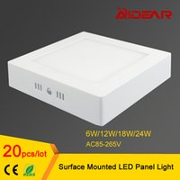 Wholesale 6W W W W Square Led Panel Light Surface Mounted Led Downlight lighting AC85 V free shippping