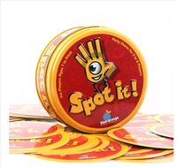 Wholesale Newest spot it board game quality paper with metal box best gift for your friend cards game