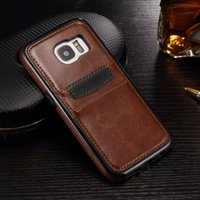 Wholesale S6 S7 Luxury Leather Back Case For Samsung Galaxy S7 S7 Edge S6 S6 Edge Ultra Leather Cover Phone Case With Card Slot