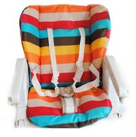 Wholesale NEW car seat cover soft Cotton pads Baby carriages Dining Chair Universal pad rainbow color bar pad