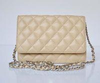 Wholesale cc34 High quality Luxury Famous Brand Genuine caviar Leather Lambskin Handbag Women s designer s WOC crossbody Mini Chain messenger Bag