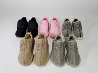 best girls shoes - Best Quality Boost Kids Athletic Shoes Moonrock Oxford Tan Turtle Grey Triple Black Pink Boys and Girls Running Shoes