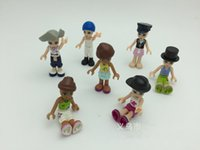 Wholesale 7 style plastic cm diy accessories cartoon characters series of dolls Action Figures toys Children toys