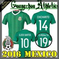 america stocks - 2016 Mexico jersey Copa America at home CHICHARITO Mexico away g Dos Santos T Mexico MARQUEZ shirts in stock