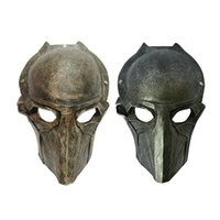 alien costume movie - Halloween Mask Masquerade for Adult Fashion Alien VS Predator Warrior Resin Movie Mask Sliver Gold Resin Masquerade Cosplay Party Costume