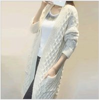 Wholesale 2016 Autumn Fashion Long Sleeve Knitwear Lady Casual Sweater Coat