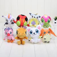 Wholesale 10cm Digimon Adventure Digimon Plush Agumon Gabumon Gomamon Biyomon Palmon Patamon Tentomon Plush Keychain Toys Soft Stuffed Dolls