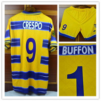 Wholesale Retro jersey Parma Crespo Buffon Veron Thuram Fabio Cannavaro jersey Can Custom name