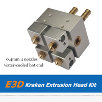 Wholesale 3D Printer Part E3D Kraken water Cooled Hot End Extruder Kit Bowden Fed Multi Color Extrusion Kit