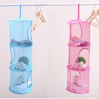 Wholesale 3 Tier Mesh Hanging Storage Basket Hanging Network Storage Cage Storage Compartments Collapsible Bra Storage Cage Nest