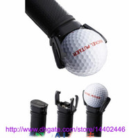 Wholesale 100pcs New Golf Ball Pick Up Ultimate Ball Retriever Hot Putter Grip Saver Claw Pick Up Back Put On Retriever Grabber free ship
