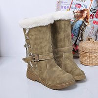 ankle hair - Thick Hair Flat Bottom Warm Winter Boots Fashion Women Warmly Round Toe Martin Snow Boots