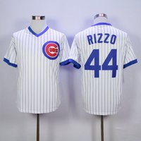 Wholesale Anthony Rizzo Jersey Chicago Cubs Postseason Jersey Men s Stitched Embroidery Logos Flexbase Baseball Jerseys Fast Shipping