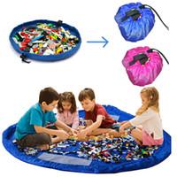Wholesale 150CM Portable Kids Children Infant Baby Play Mats Large Children Play Rug Toys Storage Bag Organizer Children Toys Mat PX67